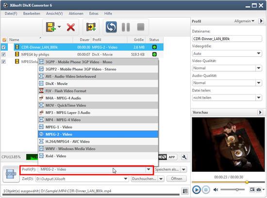 Xilisoft DivX Converter Anleitung