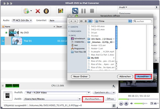 Xilisoft DVD to iPad Converter for Mac