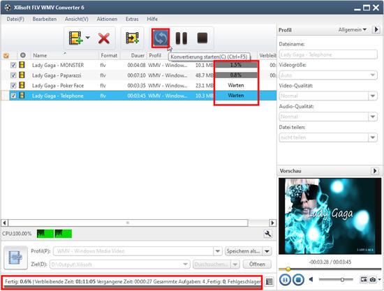Xilisoft FLV WMV Converter Anleitung