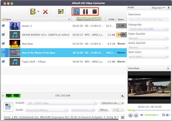HD Videos konvertieren unter Mac OS