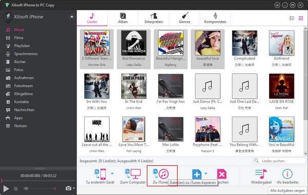 iPhone Dateien auf den Computer oder umgekehrt kopieren