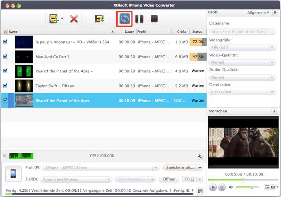 Video für iPhone umwandeln unter Mac