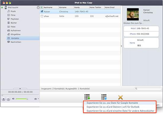 iPod Dateien auf den Mac oder umgekehrt kopieren
