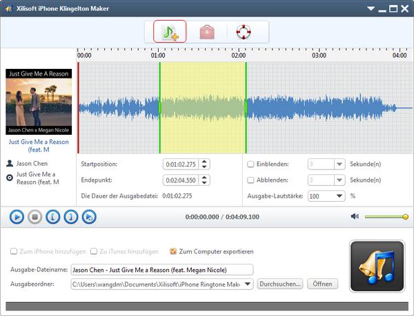 Xilisoft iPhone Ringtone Maker, make iPhone ringtone